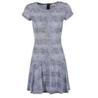 Υφασμάτινα Γυναίκα Κοντά Φορέματα MICHAEL Michael Kors ZEPHYR SS FLARE DRS μπλέ / άσπρο