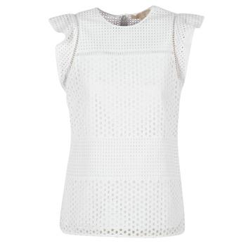 Υφασμάτινα Γυναίκα Μπλούζες MICHAEL Michael Kors COMBO EYELET S/S Άσπρο
