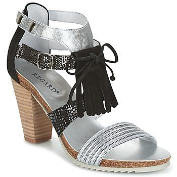Παπούτσια Γυναίκα Σανδάλια / Πέδιλα Regard RIKA Silver / Black