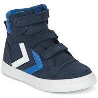 Παπούτσια Παιδί Ψηλά Sneakers Hummel STADIL CANVAS HIGH JR μπλέ / άσπρο