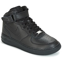 Παπούτσια Αγόρι Ψηλά Sneakers Nike AIR FORCE 1 MID 06 JUNIOR Black