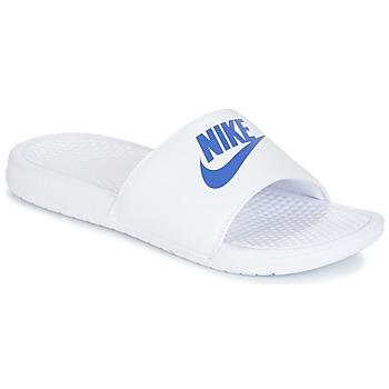 Παπούτσια Άνδρας σαγιονάρες Nike BENASSI JUST DO IT Άσπρο / Μπλέ