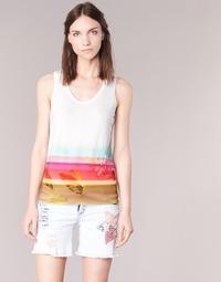 Υφασμάτινα Γυναίκα Αμάνικα / T-shirts χωρίς μανίκια Desigual TEDERI Άσπρο / Multicolore