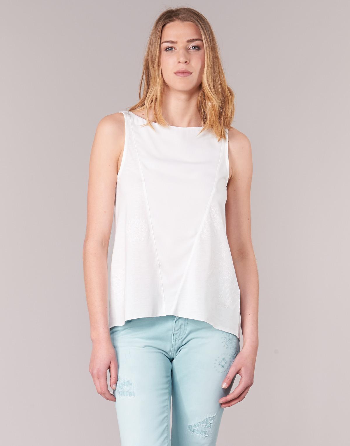 73a69a4c3737 Αμάνικα T-shirts χωρίς μανίκια Desigual ROMINESSA Σύνθεση  Βαμβάκι ...