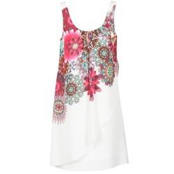 Υφασμάτινα Γυναίκα Κοντά Φορέματα Desigual LIORASA άσπρο / Red / ροζ