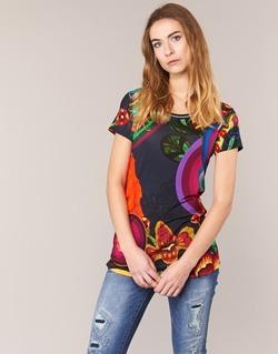 Υφασμάτινα Γυναίκα T-shirt με κοντά μανίκια Desigual GRIZILLO Multicolore