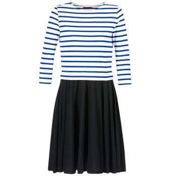 Υφασμάτινα Γυναίκα Κοντά Φορέματα Petit Bateau FINALLY άσπρο / μπλέ