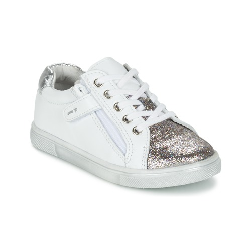 Παπούτσια Αγόρι Χαμηλά Sneakers Babybotte KRAZY άσπρο / Silver