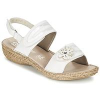 Παπούτσια Γυναίκα Σανδάλια / Πέδιλα Rieker MIOLOI άσπρο