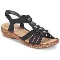 Παπούτσια Γυναίκα Σανδάλια / Πέδιλα Rieker MECHAROLO Black