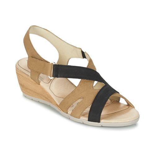Παπούτσια Γυναίκα Σανδάλια / Πέδιλα Rondinaud COLAGNE Beige / Black
