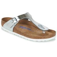 Παπούτσια Γυναίκα Σαγιονάρες Birkenstock GIZEH SFB Silver