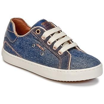Ψηλά Sneakers Geox J KIWI G. B ΣΤΕΛΕΧΟΣ: Δέρμα / ύφασμα & ΕΠΕΝΔΥΣΗ: Ύφασμα & ΕΣ. ΣΟΛΑ: Δέρμα & ΕΞ. ΣΟΛΑ: Καουτσούκ