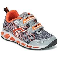 Παπούτσια Αγόρι Χαμηλά Sneakers Geox J SHUTTLE B.A Grey / Orange