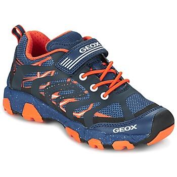 Παπούτσια Αγόρι Χαμηλά Sneakers Geox J MAGNETAR B. A MARINE / Orange