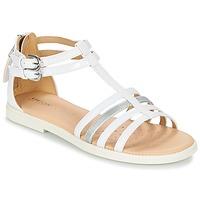Παπούτσια Κορίτσι Σανδάλια / Πέδιλα Geox J S.KARLY G. D άσπρο
