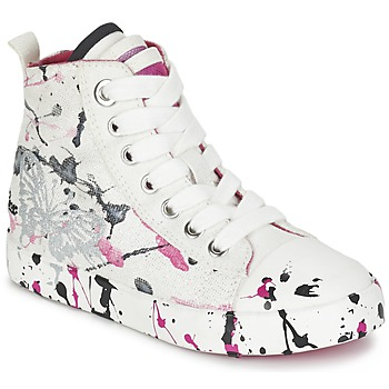 Παπούτσια Κορίτσι Ψηλά Sneakers Geox J CIAK G. C Άσπρο / Ροζ