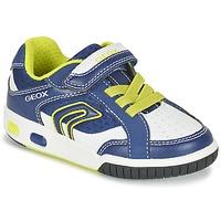 Παπούτσια Αγόρι Χαμηλά Sneakers Geox J GREGG A μπλέ / Citron