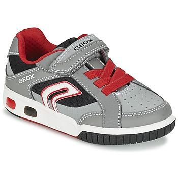 Παπούτσια Αγόρι Χαμηλά Sneakers Geox J GREGG A Grey / Red