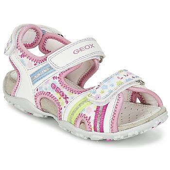 Παπούτσια Κορίτσι Σπορ σανδάλια Geox J S.ROXANNE A άσπρο / ροζ