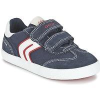 Παπούτσια Αγόρι Χαμηλά Sneakers Geox J KIWI B. M MARINE / Red