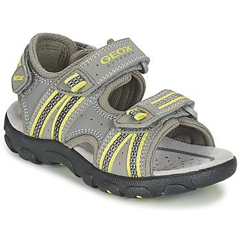 Παπούτσια Αγόρι Σπορ σανδάλια Geox J S.STRADA A Grey / Green