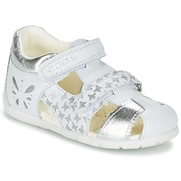 Παπούτσια Κορίτσι Σανδάλια / Πέδιλα Geox B KAYTAN G. C Άσπρο / Silver