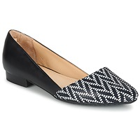 Παπούτσια Γυναίκα Μπαλαρίνες Hush puppies JOVANNA Black / άσπρο