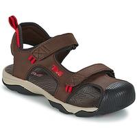 Παπούτσια Αγόρι Σπορ σανδάλια Teva TOACHI 4 Brown / Black / Red