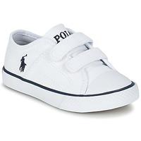 Παπούτσια Παιδί Χαμηλά Sneakers Ralph Lauren DYLAND EZ άσπρο