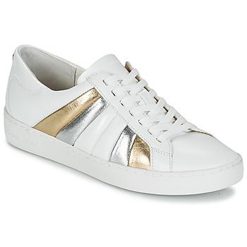 Παπούτσια Γυναίκα Χαμηλά Sneakers MICHAEL Michael Kors CONRAD SNEAKER Άσπρο / Gold / Argenté