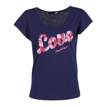 Υφασμάτινα Γυναίκα T-shirt με κοντά μανίκια Love Moschino W4G4127 Μπλέ