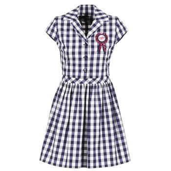 Υφασμάτινα Γυναίκα Κοντά Φορέματα Love Moschino WVF3001 Μπλέ / Άσπρο