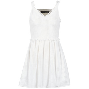 Υφασμάτινα Γυναίκα Κοντά Φορέματα Love Moschino WVF3880 άσπρο