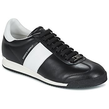 Παπούτσια Άνδρας Χαμηλά Sneakers Roberto Cavalli 2042A Black / άσπρο