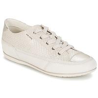 Παπούτσια Γυναίκα Χαμηλά Sneakers Geox NEW MOENA άσπρο