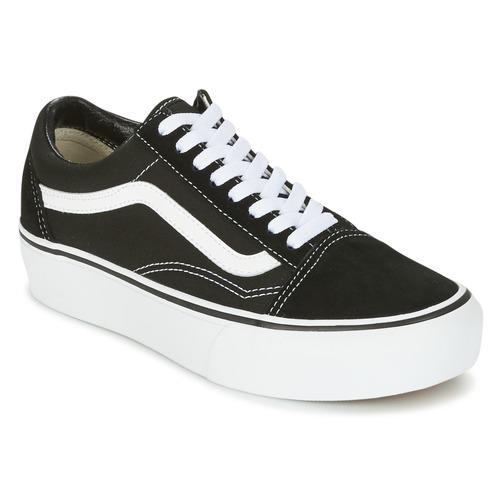 Παπούτσια Γυναίκα Χαμηλά Sneakers Vans UA OLD SKOOL PLATFOR Black / Άσπρο