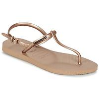 Παπούτσια Γυναίκα Σαγιονάρες Havaianas FREEDOM ροζ / Gold