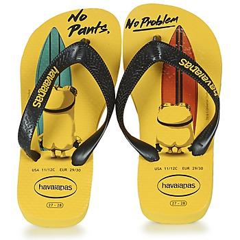 Παπούτσια Παιδί Σαγιονάρες Havaianas KIDS MINIONS Yellow / Black