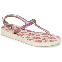 Παπούτσια Κορίτσι Σαγιονάρες Havaianas KIDS FREEDOM PRINT Beige / Ροζ