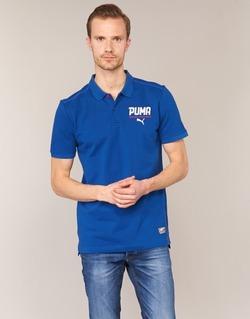 Υφασμάτινα Άνδρας Πόλο με κοντά μανίκια  Puma STYLE TEC POLO μπλέ