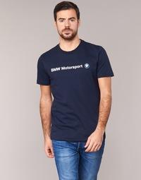 Υφασμάτινα Άνδρας T-shirt με κοντά μανίκια Puma BMW MSP LOGO TEE Marine