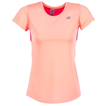 Υφασμάτινα Γυναίκα T-shirt με κοντά μανίκια New Balance ACCELERATE T CORAIL