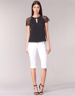 Υφασμάτινα Γυναίκα Κοντά παντελόνια Le Temps des Cerises NINA άσπρο