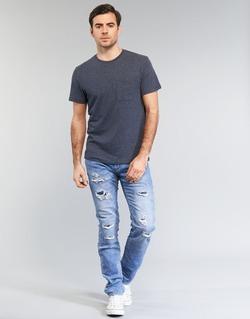 Υφασμάτινα Άνδρας Skinny Τζιν  Le Temps des Cerises 711 JOGG μπλέ /  CLAIR