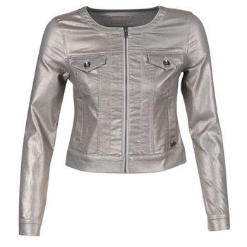 Υφασμάτινα Γυναίκα Τζιν Μπουφάν/Jacket  LPB Woman OMILATE Silver