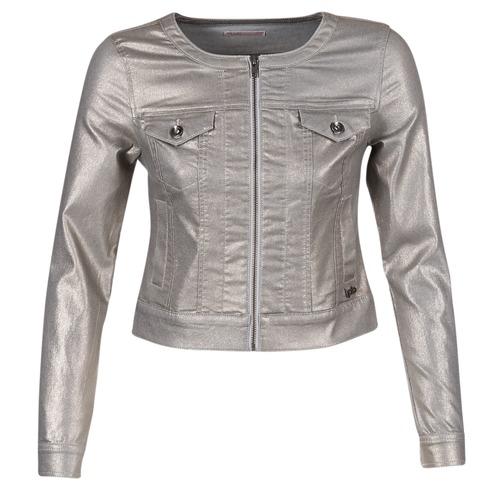 Υφασμάτινα Γυναίκα Τζιν Μπουφάν/Jacket  Les P'tites Bombes OMILATE Silver