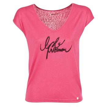 Υφασμάτινα Γυναίκα T-shirt με κοντά μανίκια Les P'tites Bombes CHOUBERNE ροζ