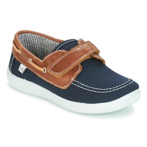 Παπούτσια Αγόρι Boat shoes Citrouille et Compagnie GASCATO Marine / Brown