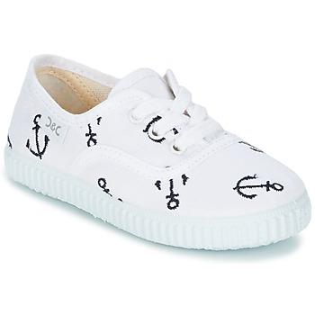 Παπούτσια Παιδί Χαμηλά Sneakers Citrouille et Compagnie KIPPI BOU άσπρο / μπλέ